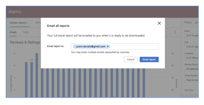 Now, email all reports to your inbox
