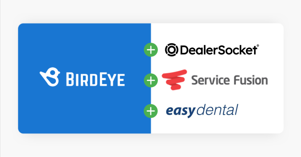 Birdeye announces partnership with DealerSocket iDMS, Service Fusion and Easy Dental