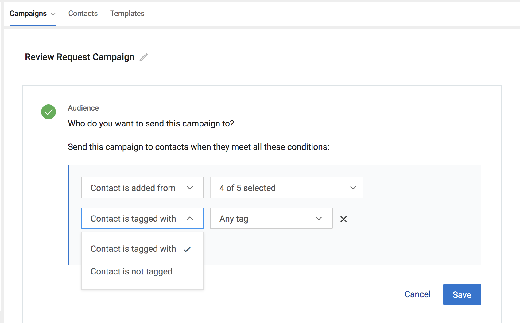 Birdeye enhances contact tag selection for automated campaigns