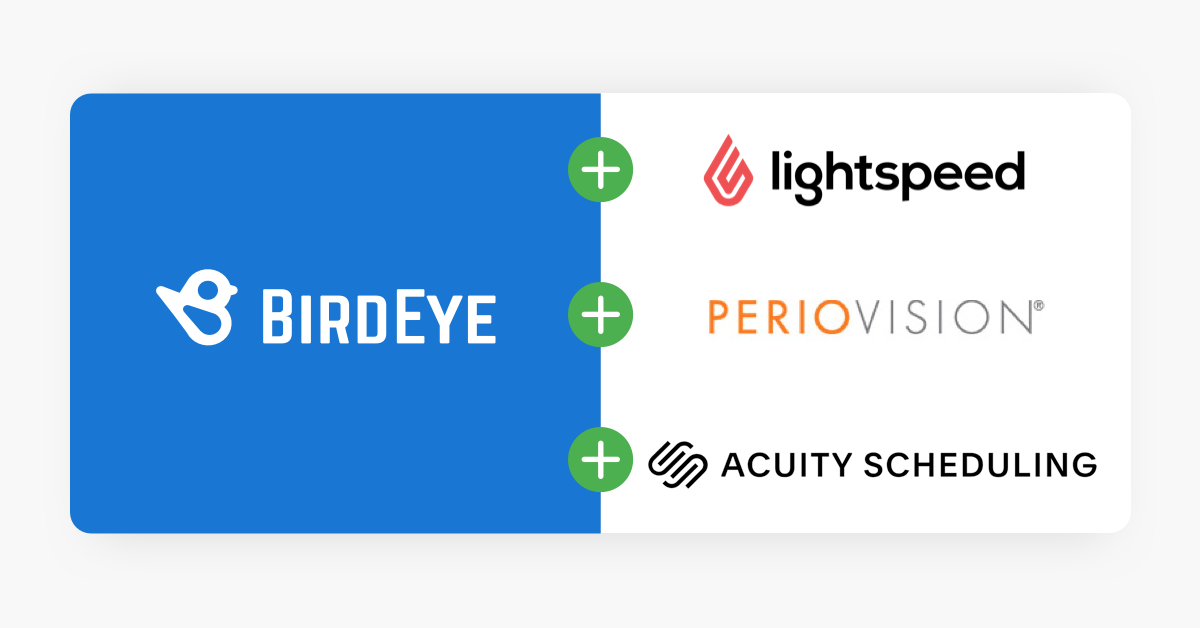 Birdeye Now Integrates With Acuity Scheduling Lightspeed And Periovision In Addition To 1 000 Other Systems 1581033120421