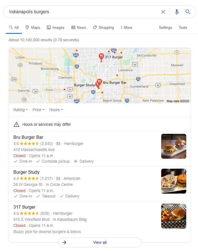 Bru Burger Bar Search 1601041020461