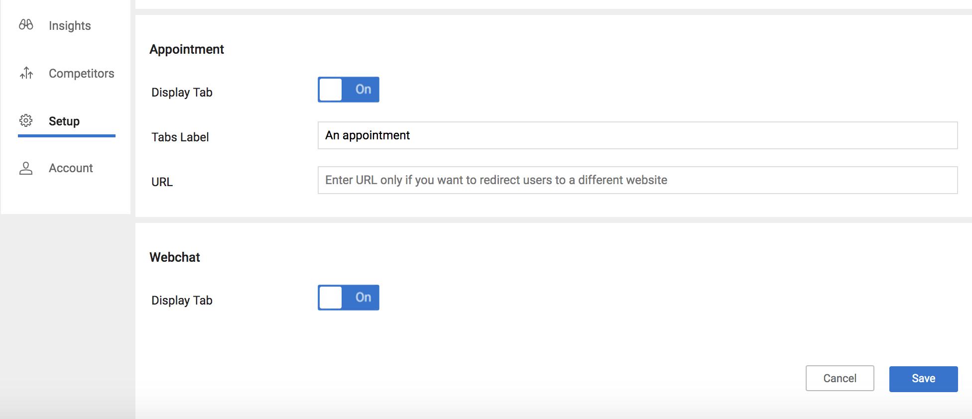 Configure Webchat on Birdeye Review Profiles