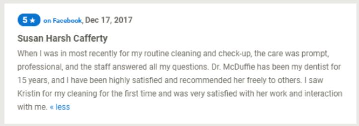 Mcduffie Dentistry Reviews 1564398873934
