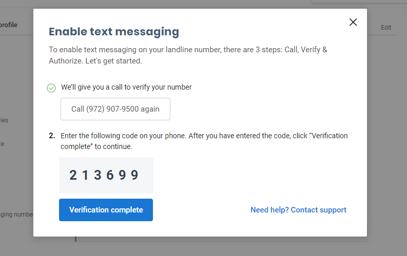 Now, enable business texting on your landline number