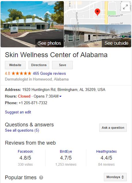 Skin Wellness Center Of Alabama 144433600235323 After 1546857089050